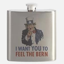 Bernie Uncle Sam Flask