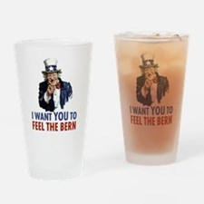 Bernie Uncle Sam Drinking Glass