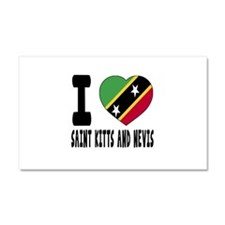 I Love Saint Kitts and Nevis Car Magnet 20 x 12