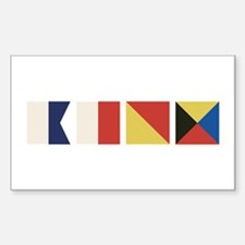 Nautical Flags Decal