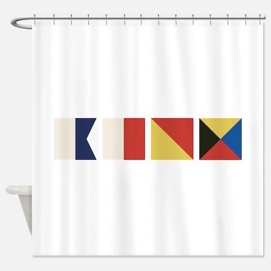 Nautical Flags Shower Curtain
