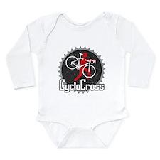 Cute Cyclocross Long Sleeve Infant Bodysuit