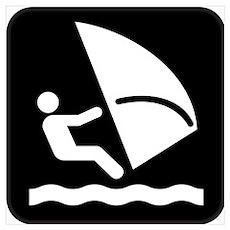 Windsurfing Park Symbol Poster