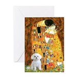 The Kiss / Maltese Greeting Card