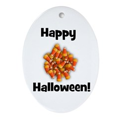 Happy Halloween! Oval Ornament