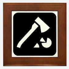 Chopping Wood Park Symbol Framed Tile