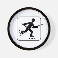 Rollerblade Park Symbol Wall Clock