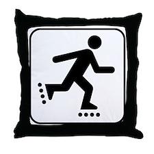 Rollerblade Park Symbol Throw Pillow