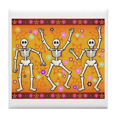 Dancing Skeletons Tile Coaster