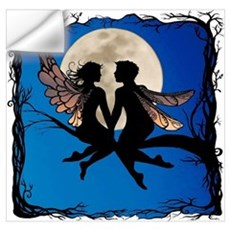 Fairy Couple fitted image Wall Decal