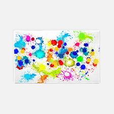 Paintball Splatter Wall Area Rug