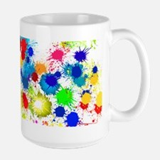 Paintball Splatter Wall Large Mug