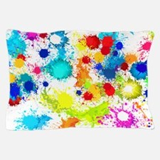Paintball Splatter Wall Pillow Case