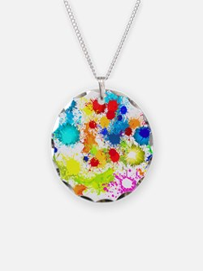 Paintball Splatter Wall Necklace