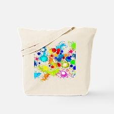 Paintball Splatter Wall Tote Bag