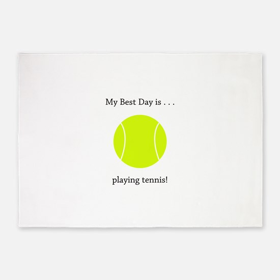 Best Day Playing Tennis Gifts 5'x7'Area Rug