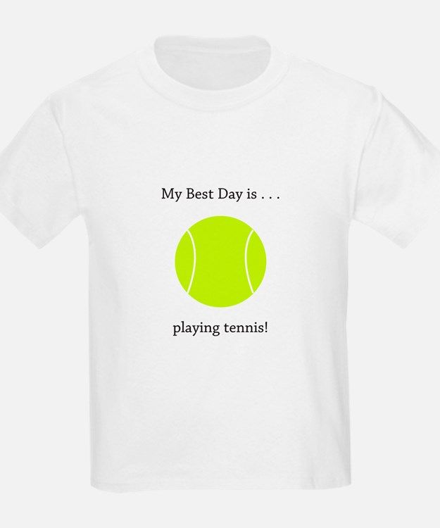 Best Day Playing Tennis Gifts T-Shirt