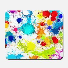 Paintball Splatter Wall Mousepad