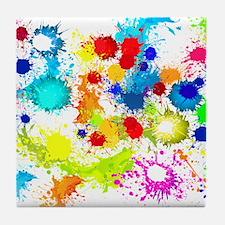Paintball Splatter Wall Tile Coaster
