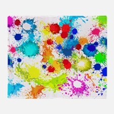 Paintball Splatter Wall Throw Blanket