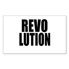 One Word Revolution Rectangle Decal