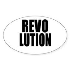One Word Revolution Oval Decal