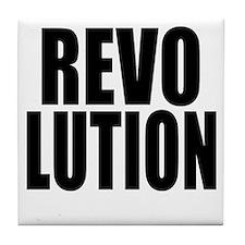One Word Revolution Tile Coaster