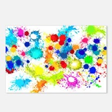 Paintball Splatter Wall Postcards (Package of 8)