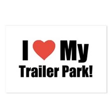 I Love My Trailer Park Funny Postcards (Package o