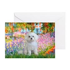 Garden / Maltese Greeting Card