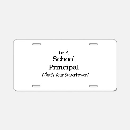 School Principal Aluminum License Plate