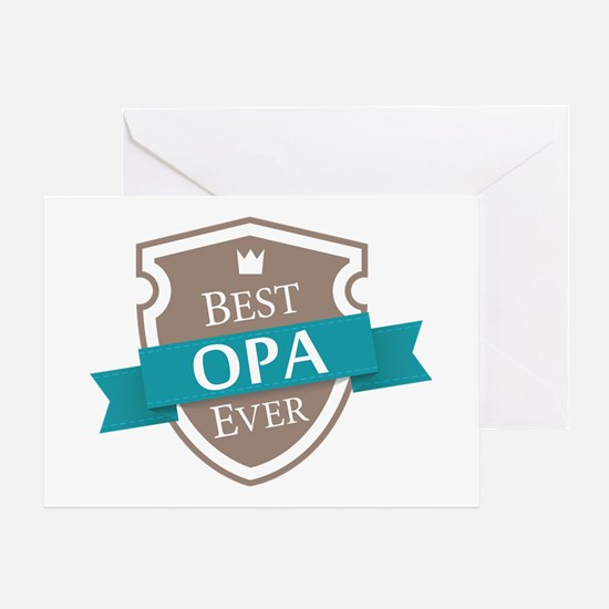 Best Opa Ever Greeting Card