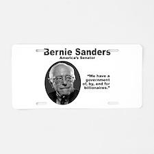 Sanders: Gov Aluminum License Plate