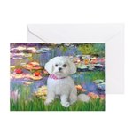 Lilies (2) & Maltese Greeting Card