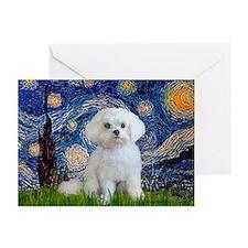 Starry Night / Maltese Greeting Cards (Pk of 20)