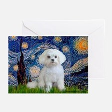 Starry Night / Maltese Greeting Cards (Pk of 20)