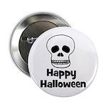 Happy Halloween (skull) Button