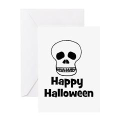Happy Halloween (skull) Greeting Card