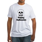 Happy Halloween (skull) Fitted T-Shirt