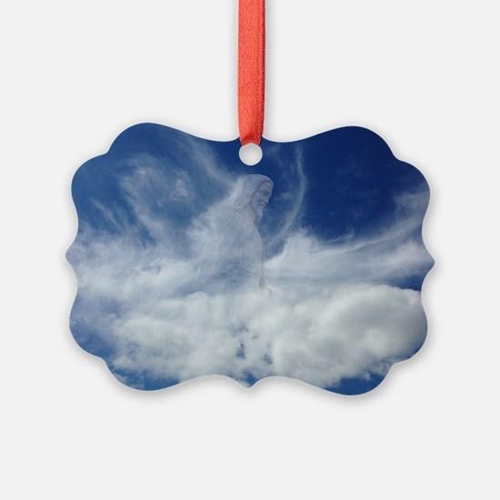 Jesus in Clouds Ornament