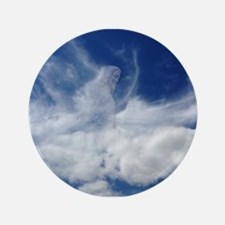 Jesus in Clouds Button