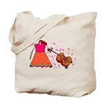 Funny Cello Player Tote Bag