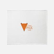 Crazy Fox Lady Throw Blanket