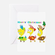 micchiee / duck trio / christmas Greeting Cards
