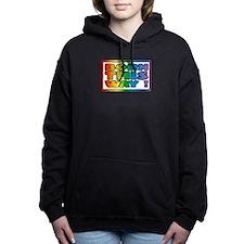 Born this way. Gay lesb Women's Hooded Sweatshirt