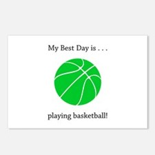 Best Day Playing Basketball Gifts Postcards (Packa
