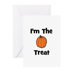 I'm The Treat (pumpkin) Greeting Cards (Pk of 10)