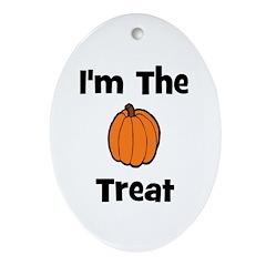 I'm The Treat (pumpkin) Oval Ornament
