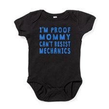 Proof Mommy Cant Resist Mechanics Baby Bodysuit