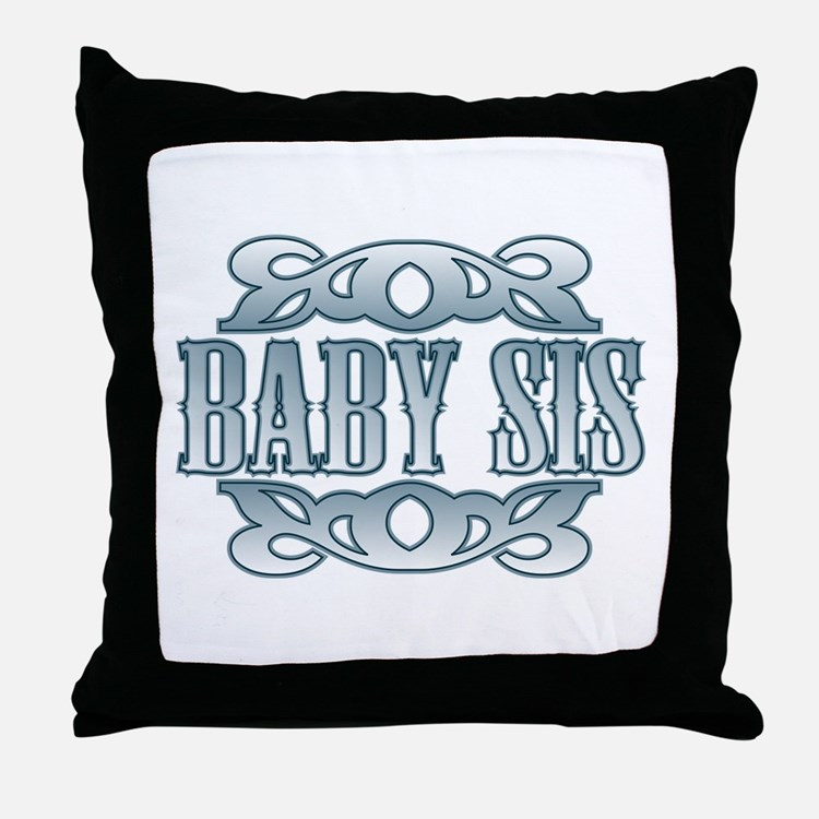 Baby Sis Silver Buckle Throw Pillow